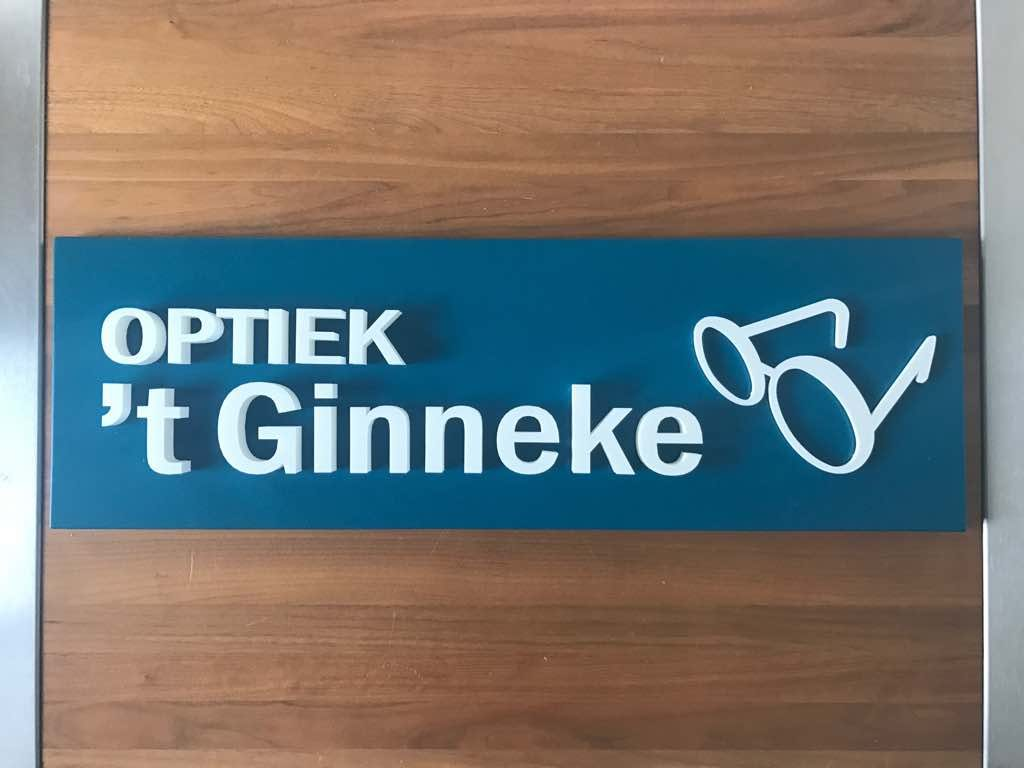 Ginneke's optiek 3D geprint bord