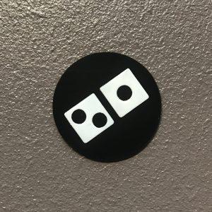 Domino's Logo, Geprint door EPIN 3D